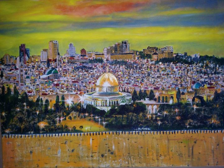 """Painting titled """"received-1020901854…"""" by Rachid Ouala, Original Art, Oil"""
