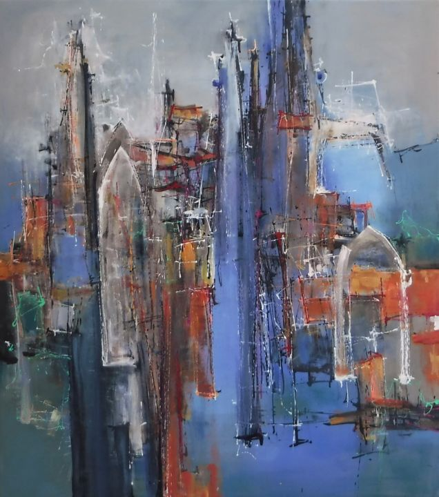 """Painting titled """"Cathedral 2"""" by Martin Racko, Original Art, Acrylic"""