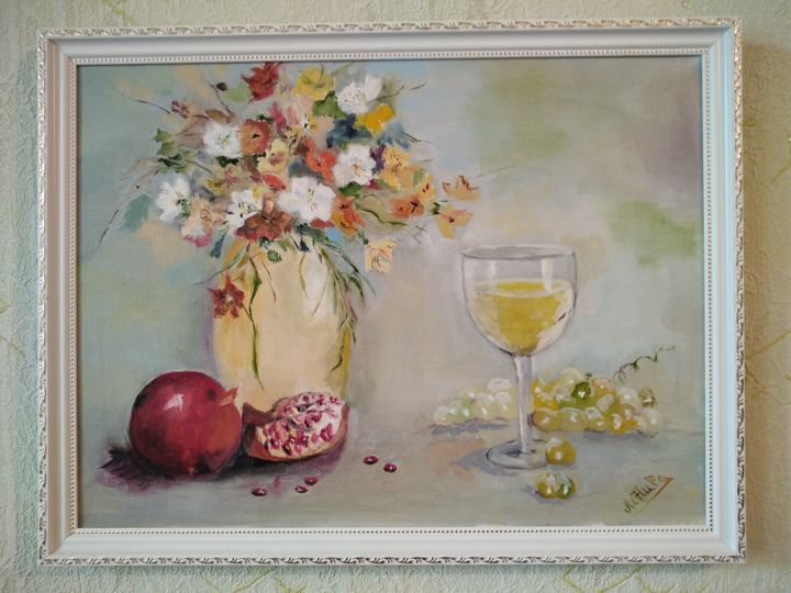 """Painting titled """"Знакомство."""" by Алла Радецкая, Original Art, Oil"""