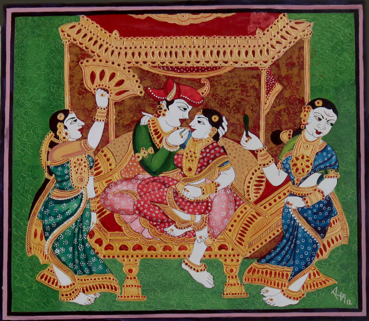 "Royal couple making love"" Painting by Radhika G Ulluru 