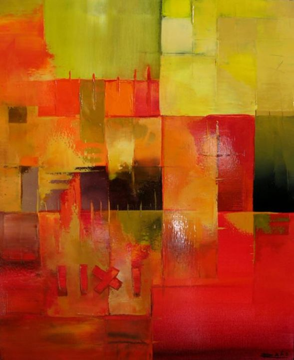 """Painting titled """"Feeling in red"""" by Radoart, Original Art,"""