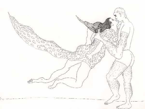 Drawing, ink, figurative, artwork by Raphael Perez
