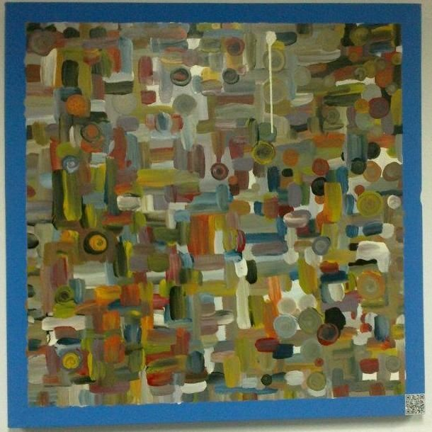 Painting,  100 x 100 cm ©2012 by Mohammed Rahmouni -  Painting, Abstract Painting