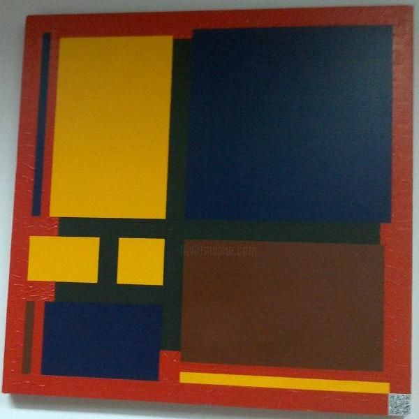 Painting,  100 x 100 cm ©2011 by Mohammed Rahmouni -  Painting, Abstract Painting