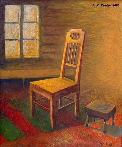 """Painting titled """"Old house at dawn"""" by Raimo Rautio, Original Art,"""