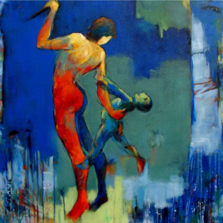 Mother Child Painting By Rajesh Shah Artmajeur
