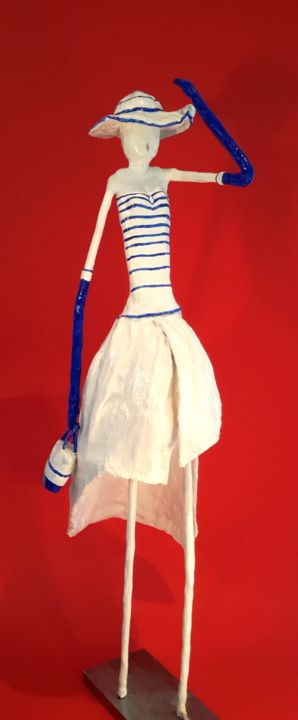 Je-ne-suis-pas-parisienne - Sculpture,  70x25x20 cm ©0000 by SUZAN -                                                        Art Deco, Other, Fashion