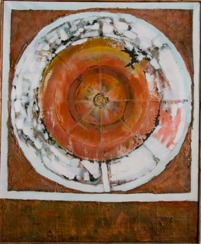 """Painting titled """"Mandala to the Unex…"""" by Ralph Levesque, Original Art,"""