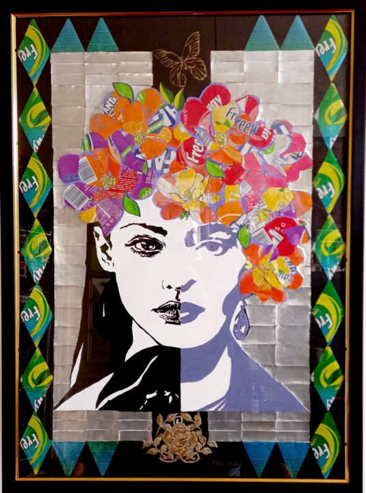 """Painting titled """"FRIDA"""" by Pal Sui, Original Art, Acrylic"""