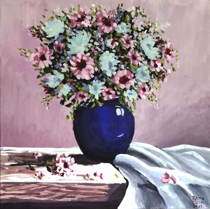 """Painting titled """"Special roses"""" by Rama Zleta, Original Art, Acrylic"""