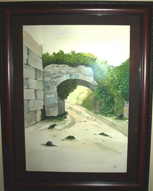 """Painting titled """"Arch"""" by Rana, Original Art,"""