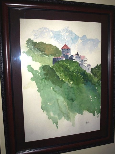 """Painting titled """"The Castle"""" by Rana, Original Art,"""