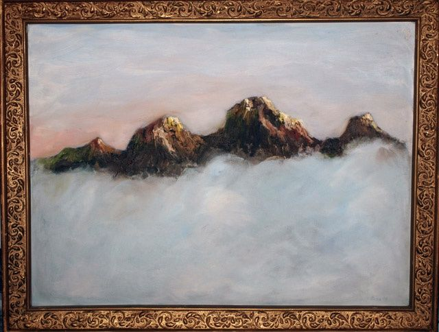 """Painting titled """"Mountains In The Mo…"""" by Rana, Original Art,"""