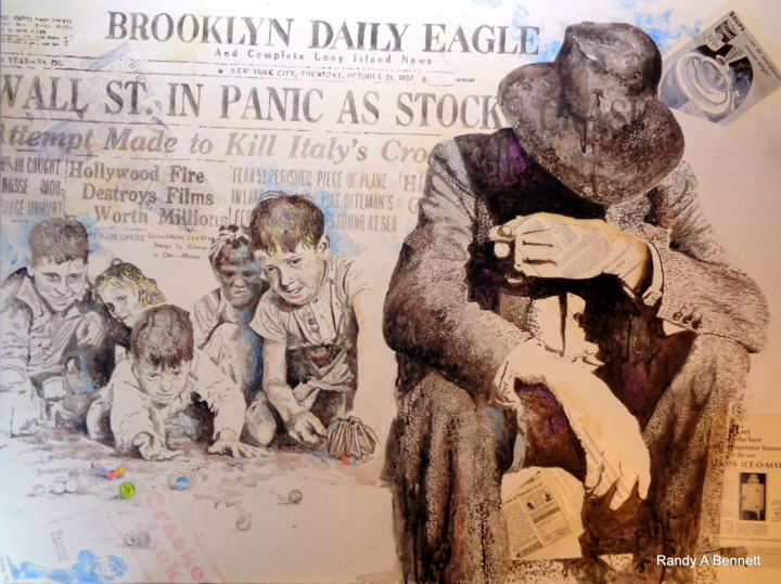 BROOKLYN DAILY EAGLE - Painting,  30x40 in, ©2019 by Randy A Bennett Art -