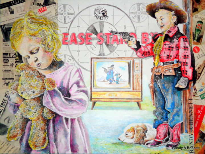 """Painting titled """"PLEASE STAND BY 2"""" by Randy A Bennett Art, Original Art, Acrylic"""