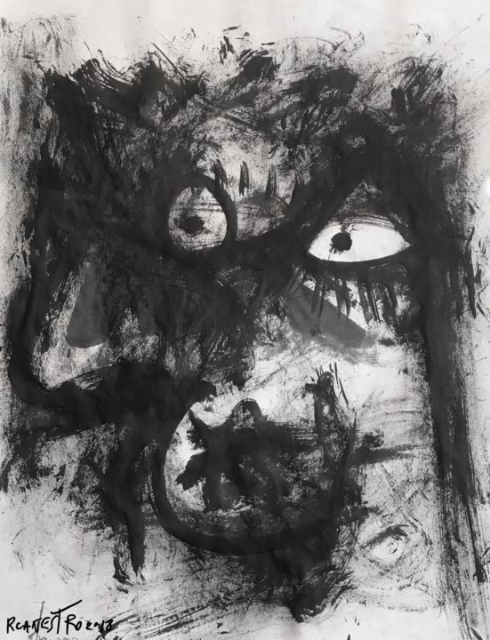 SUMI VI - Painting,  65x50 cm ©2018 by RAUL CANESTRO CABALLERO -                                                                    Abstract Art, Figurative Art, Abstract Expressionism, Abstract Art, abstract art, abstract painting, arte abstracto, sumi-e, chinese ink, india ink, encre de chine, tinta china, rcanestro, raul canestro, raul cañestro
