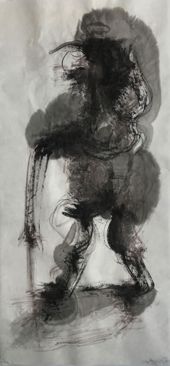 EL GRISES - © 2018 abstract art, painting, chinese ink, india ink, encre de chine, tinta china, rcanestro, raul canestro, raul cañestro, sumi-e Online Artworks