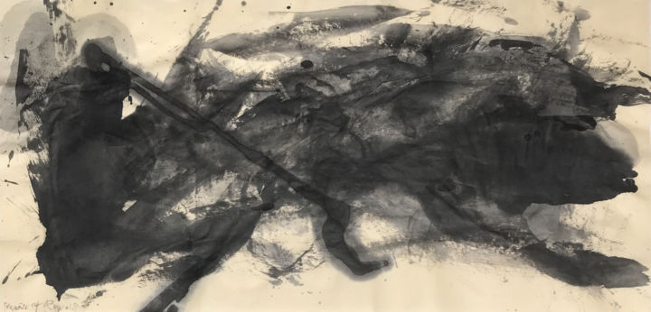 VISCERAL - © 2018 abstract art, chinese ink, india ink, encre de chine, tinta china, rcanestro, raul canestro, raul cañestro, sumi-e Online Artworks