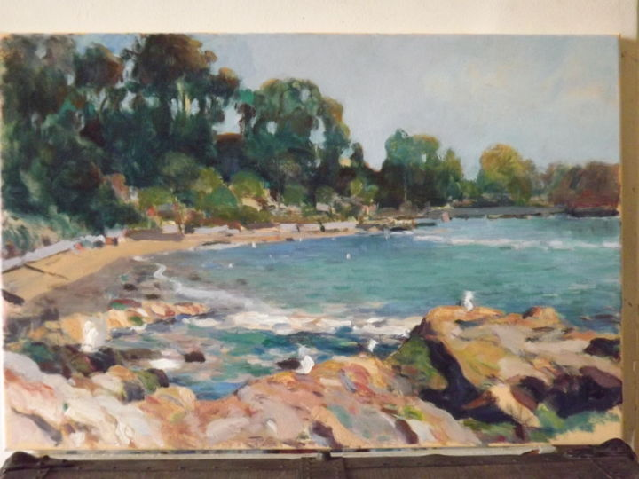 """Painting titled """"marina horcon"""" by Raul Quiroga, Original Art, Oil"""