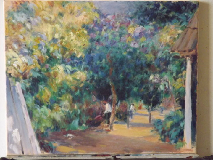 """Painting titled """"paisaje"""" by Raul Quiroga, Original Art, Oil"""