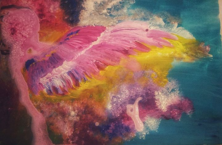 """Painting titled """"Angels"""" by Ravid Wolff, Original Art,"""
