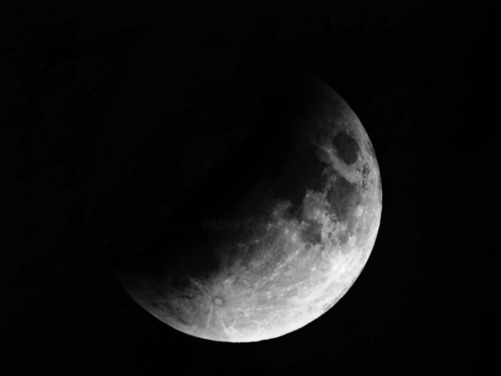 Lunar eclipse July 16th 2019 - Photography, ©2019 by Ravid Wolff -
