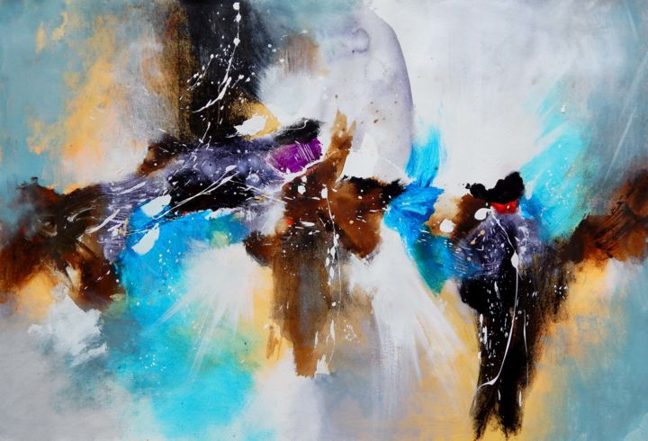 Cosmos Interview Painting By Sandeep Rawal Artmajeur