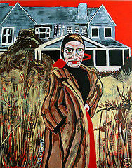 """Painting titled """"Edith Beale"""" by Outsider Artist, Original Art,"""