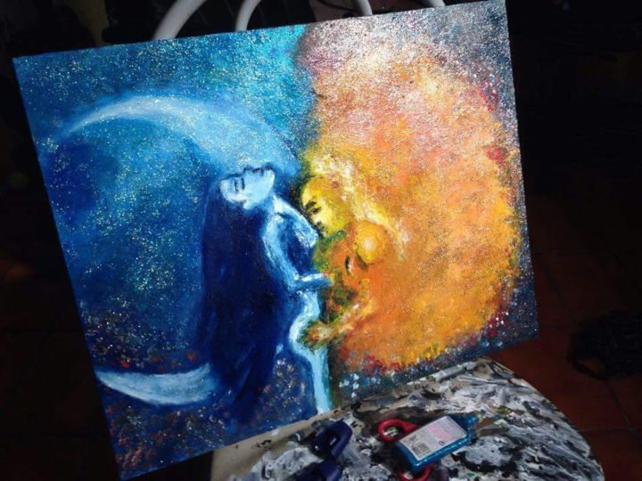 Sun Moon Painting By Rayanne Bachi Artmajeur