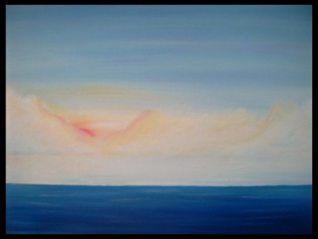 Seascape #3 - Painting,  16x20 in, ©2007 by Ray Garcia -