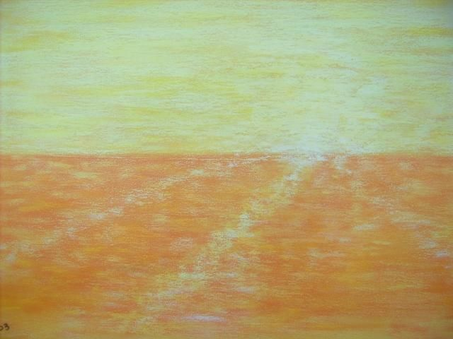Seascape Untitled 1 - Painting,  12x18 in, ©2003 by Ray Garcia -