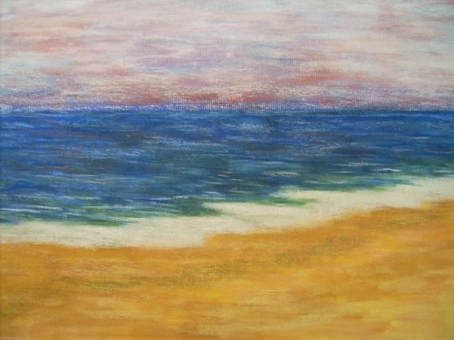 Seascape Untitled 2 - Painting,  12x18 in, ©2003 by Ray Garcia -