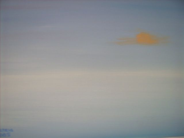 Sunrise - Painting,  16x20 in, ©2005 by Ray Garcia -