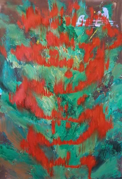 """Painting titled """"Ancestral Fire"""" by Ray Mcgirl, Original Art,"""