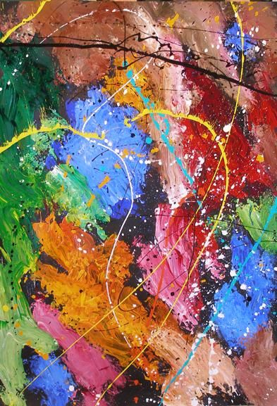 """Painting titled """"Sparkle Sparkle"""" by Ray Mcgirl, Original Art,"""