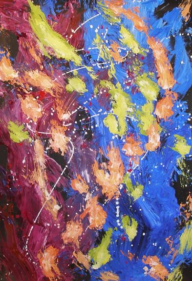 """Painting titled """"Flow"""" by Ray Mcgirl, Original Art,"""
