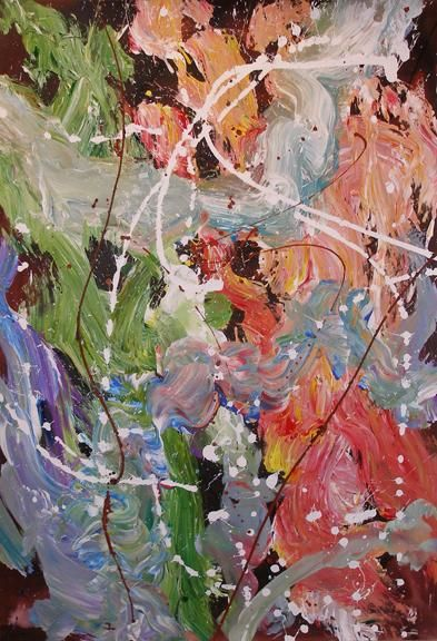"""Painting titled """"Brush"""" by Ray Mcgirl, Original Art,"""