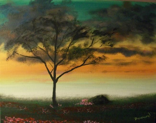 """Painting titled """"Pink Poppies"""" by Raymond Doward, Original Art, Oil"""