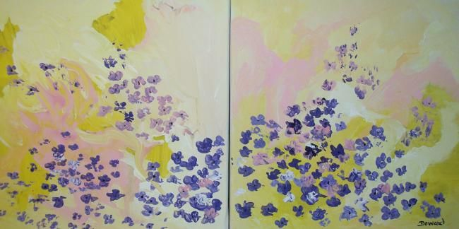 """Painting titled """"Poppies Double Canv…"""" by Raymond Doward, Original Art,"""
