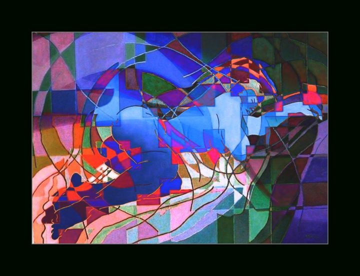 """Digital Arts titled """"Le Sommeil d'Eve"""" by Raynald Marcoux, Original Art, Digital Painting"""