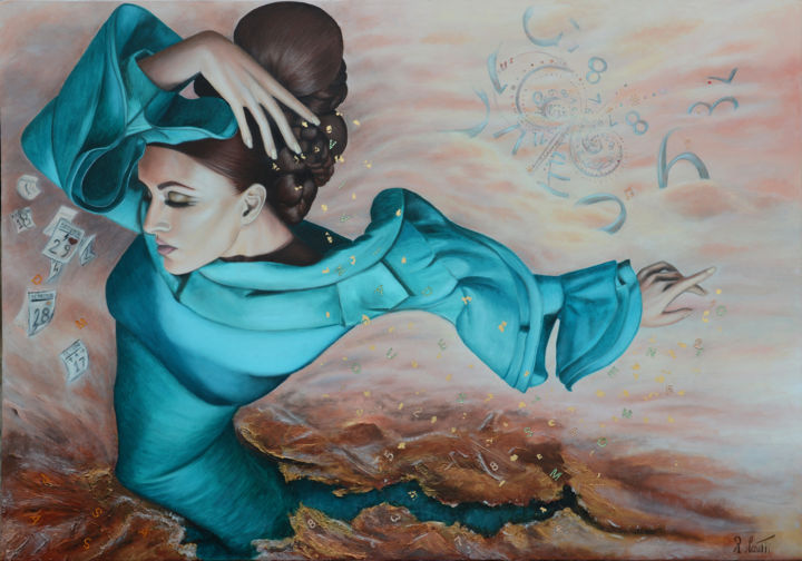 """Painting titled """"vivi adesso in ques…"""" by Rosanna Cerutti, Original Art, Oil"""