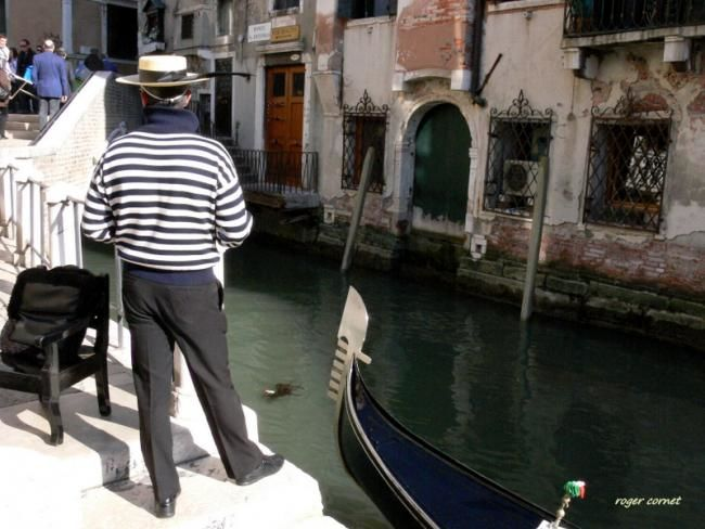 l'attente du gondolier - Photography,  20x30 cm ©2011 by Roger Cornet -  Photography, Color Photography