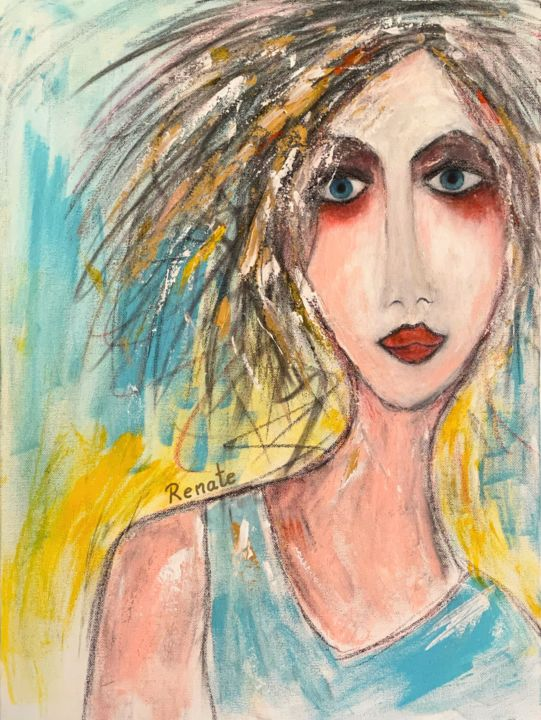 """Painting titled """"What if I regret no…"""" by Renate Dartois, Original Art, Acrylic"""