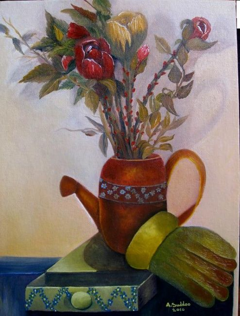 """Painting titled """"""""Celebration""""."""" by S.A.G.E., Original Art, Oil"""