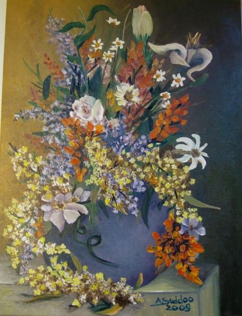 """Painting titled """"""""Restons Unis"""""""" by S.A.G.E., Original Art, Oil"""