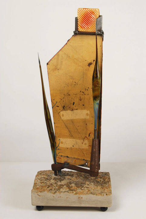 """Sculpture titled """"Blowing in the Wind"""" by Edward Pennebaker, Original Art, Glass"""