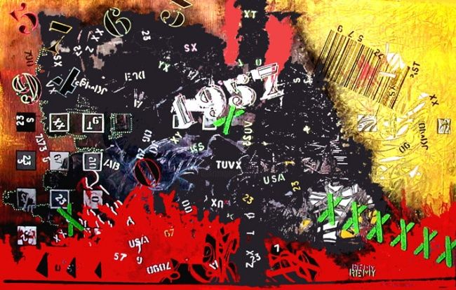 krash1957 - Painting,  33.9x59.1 in, ©2007 by Remy Rault -