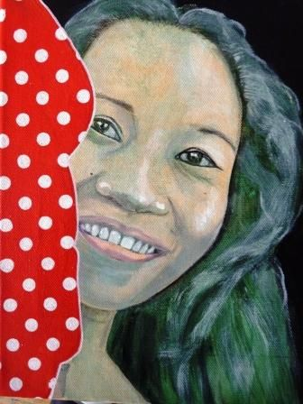 The Girl from Tagbilaran - Painting, ©2010 by Remy Rault -