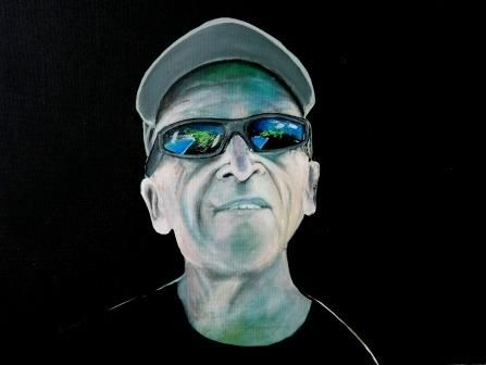 auto-portrait - Painting, ©2010 by Remy Rault -