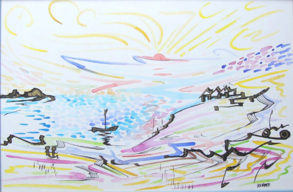 bbbbbb - Drawing,  11.8x17.7 in, ©2007 by Gilles Renard -